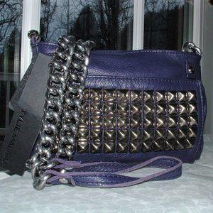 TYLIE MALIBU Runaway Purple Leather Cross Body Bag